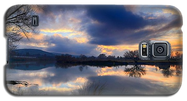 Winter Colors At Sunset Galaxy S5 Case by Lynn Hopwood
