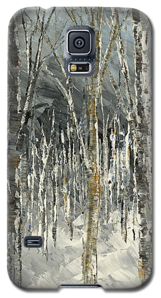 Galaxy S5 Case featuring the painting Winter Country by Tatiana Iliina
