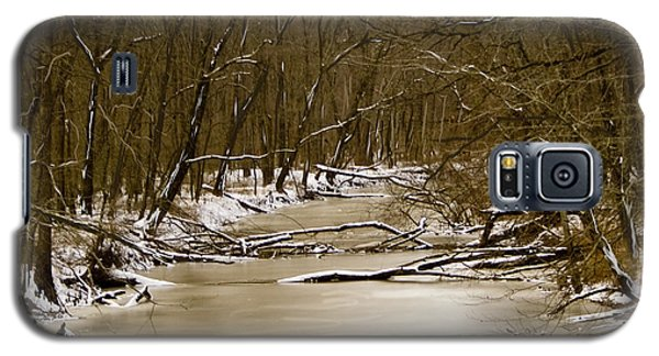 Galaxy S5 Case featuring the photograph Winter Creek by Bonnie Willis