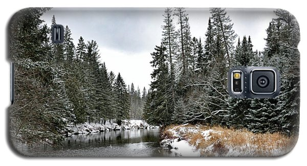 Galaxy S5 Case featuring the photograph Winter Creek In Adirondack Park - Upstate New York by Brendan Reals
