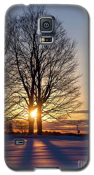 Galaxy S5 Case featuring the photograph Winter, Crystal Spring Farm, Brunswick, Maine -78592 by John Bald