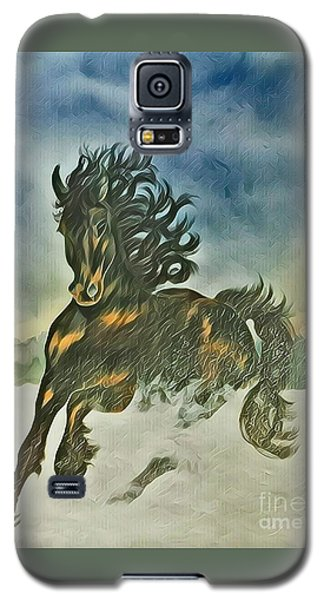 Galaxy S5 Case featuring the mixed media Winter Dance by Diane Miller