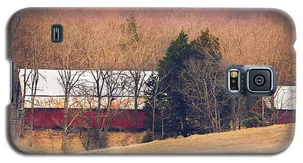 Galaxy S5 Case featuring the photograph Winter Day At The Farm by Debbie Karnes