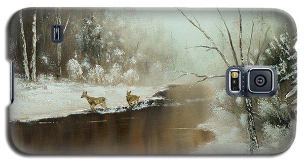 Winter Deer Run Galaxy S5 Case
