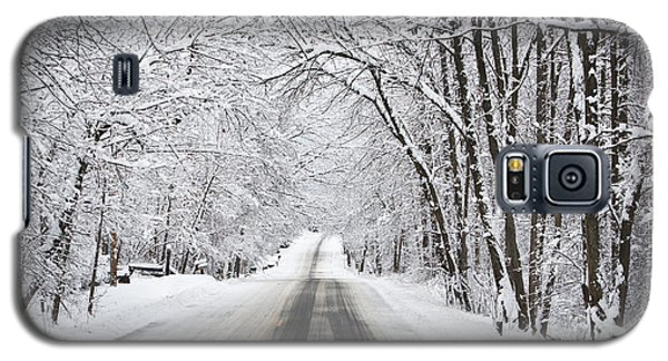 Winter Drive On Highway A Galaxy S5 Case