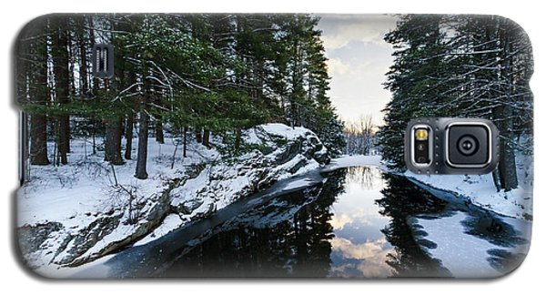 Galaxy S5 Case featuring the photograph Winter, Durham, Maine #10542 by John Bald