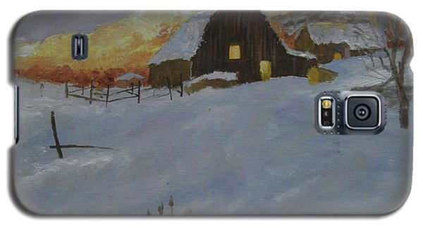 Winter Dusk On The Farm Galaxy S5 Case