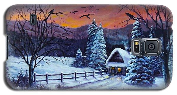 Winter Evening 2 Galaxy S5 Case by Bozena Zajaczkowska