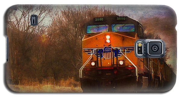 Winter Evening Union Pacific Train Galaxy S5 Case