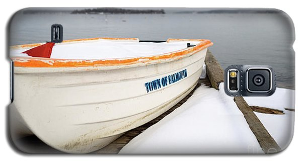 Galaxy S5 Case featuring the photograph Winter, Falmouth, Maine  -18674 by John Bald