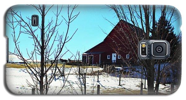 Winter Farm House Galaxy S5 Case