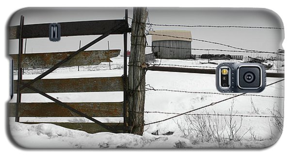 Winter Fence Farm Galaxy S5 Case