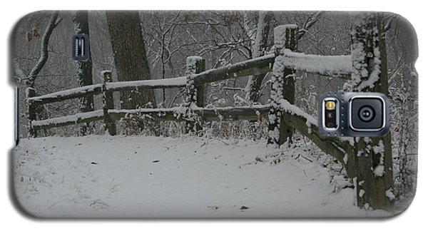 Galaxy S5 Case featuring the photograph Winter Fence Trail H by Dylan Punke