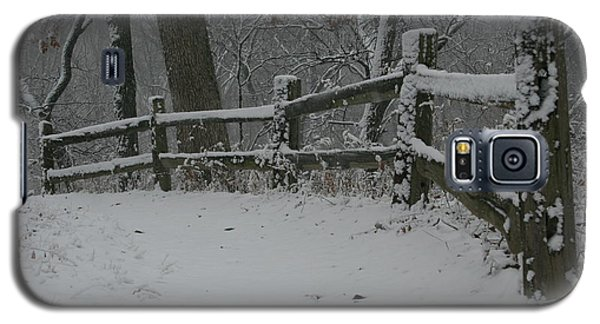 Winter Fence Trail H Galaxy S5 Case
