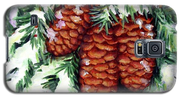 Winter Fir Cones Galaxy S5 Case