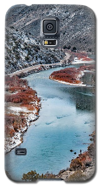 Galaxy S5 Case featuring the photograph Winter Fisherman by Britt Runyon