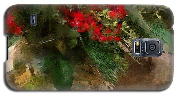Winter Flowers In Glass Vase Galaxy S5 Case