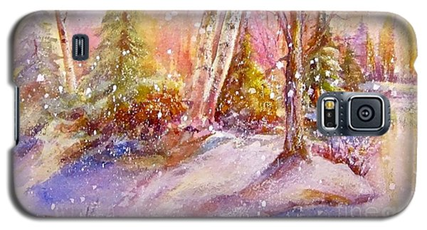 Galaxy S5 Case featuring the painting Winter Forest  by Patricia Schneider Mitchell
