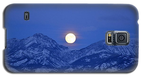 Winter Full Moon Over The Rockies Galaxy S5 Case