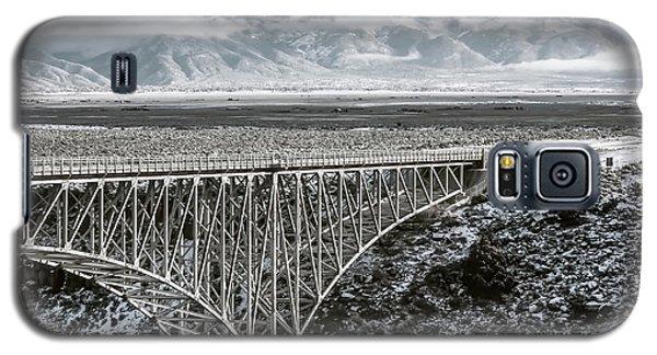 Galaxy S5 Case featuring the photograph Winter Gorge Bridge  by Britt Runyon