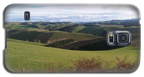 Galaxy S5 Case featuring the photograph Winter Hills by Nareeta Martin