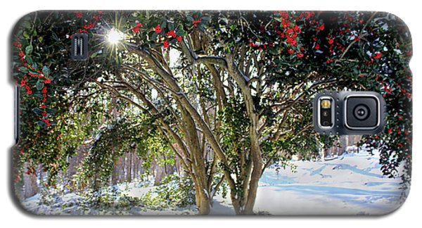 Galaxy S5 Case featuring the photograph Winter Holly by Jessica Brawley