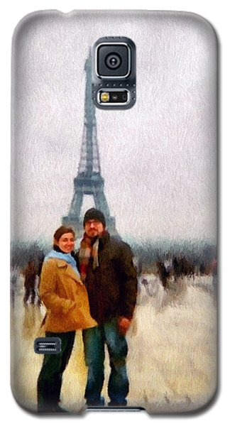Winter Honeymoon In Paris Galaxy S5 Case