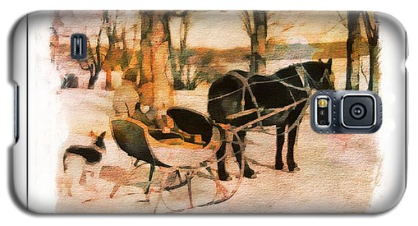 Winter Horse Sled Galaxy S5 Case