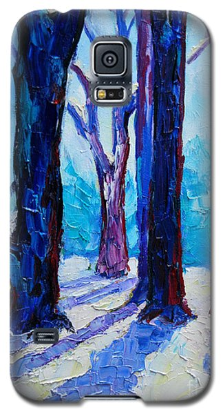 Galaxy S5 Case featuring the painting Winter Impression by Ana Maria Edulescu
