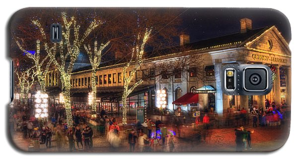 Winter In Boston - Quincy Market Galaxy S5 Case by Joann Vitali
