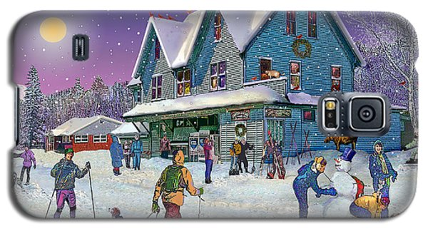 Winter In Campton Village Galaxy S5 Case by Nancy Griswold