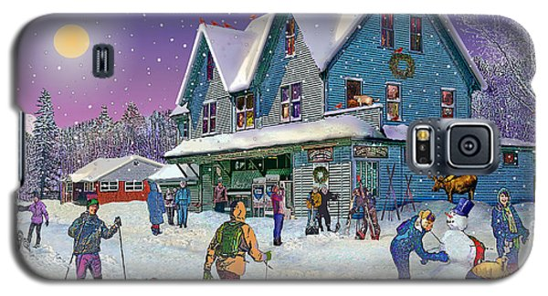 Winter In Campton Village Galaxy S5 Case