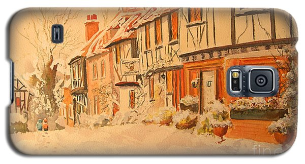 Galaxy S5 Case featuring the painting Winter In Chilham Kent by Beatrice Cloake