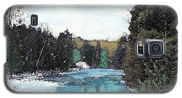 Galaxy S5 Case featuring the mixed media Winter In Kalkaska by Desiree Paquette