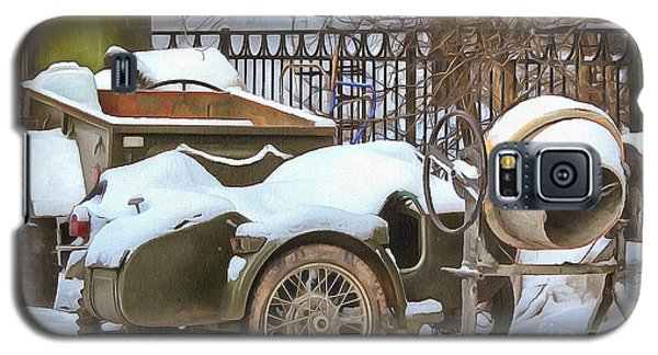 winter in the village Russian Galaxy S5 Case