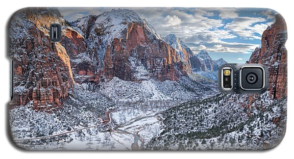 Winter In Zion National Park Galaxy S5 Case