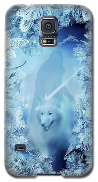 Winter Is Here - Jon Snow And Ghost - Game Of Thrones Galaxy S5 Case