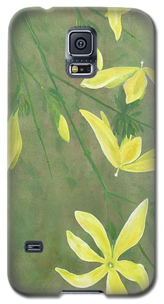 Galaxy S5 Case featuring the painting Winter Jasmine by Barbara Moignard