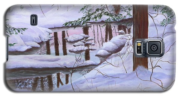Galaxy S5 Case featuring the painting Winter Landscape by Judy Filarecki