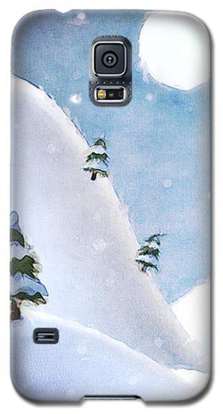 Winter Landscape Under Full Moon Galaxy S5 Case