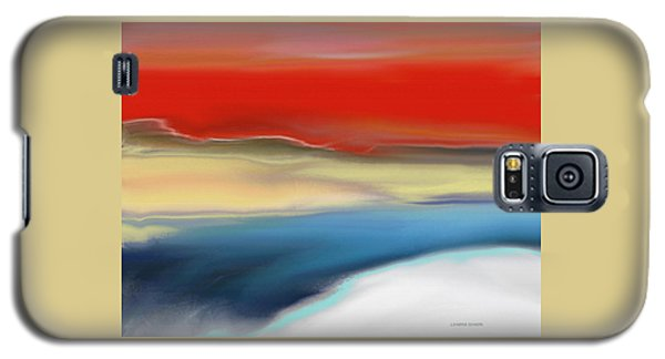 Winter Landscape With Sunset Galaxy S5 Case