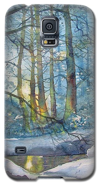 Winter Light In The Forest Galaxy S5 Case