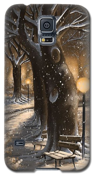 Galaxy S5 Case featuring the painting Winter Magic by Veronica Minozzi