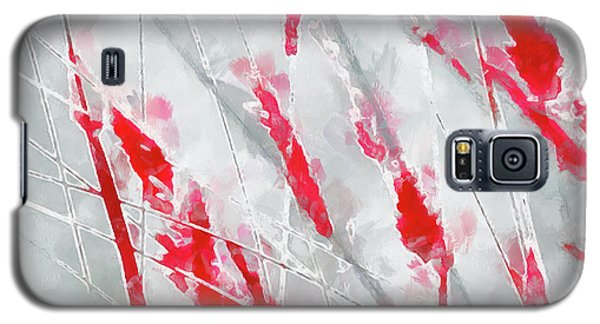 Winter Moods 1 - Cardinal Red And Icy Gray Nature Abstract Galaxy S5 Case