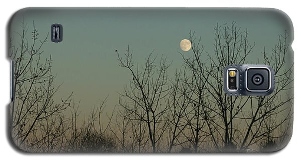 Galaxy S5 Case featuring the photograph Winter Moon by Ana V Ramirez