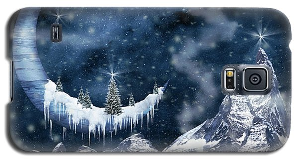 Winter Moon Galaxy S5 Case by Mihaela Pater