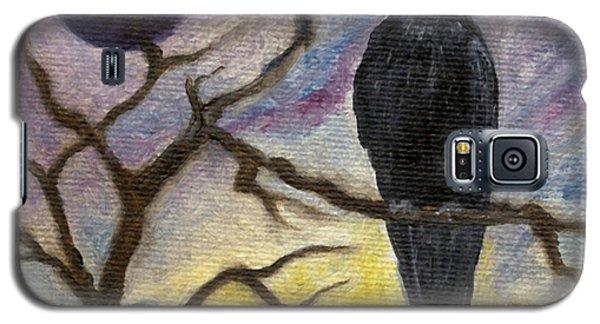 Winter Moon Raven Galaxy S5 Case