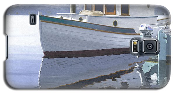 Galaxy S5 Case featuring the painting Winter Moorage by Gary Giacomelli