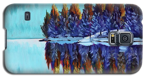 Winter - Mountain Lake Galaxy S5 Case