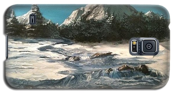 Galaxy S5 Case featuring the painting Winter Mountain Stream by Jack Skinner